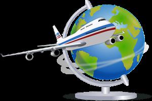 jet circling world